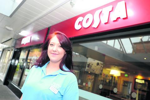 This Is Wiltshire: Rebecca Long, manager of Calne's new Costa coffee shop. It opens on Saturday