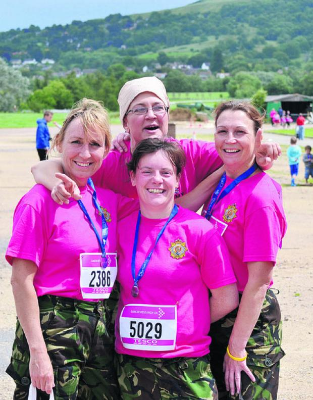 This Is Wiltshire: WO2 Jaz Hood, Sgt Jill Morris, LCpl Lyn Henderson and  Maj Fiona Gordon