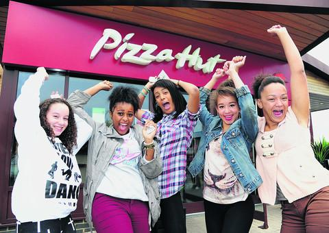 This Is Wiltshire: From left, Courtney Johnson, Jazmine Byrne, Jamlie Castle, Charney Hart and Natasha Dixon