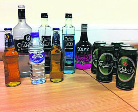 This Is Wiltshire: The seized booze