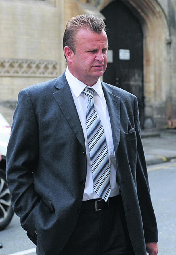 This Is Wiltshire: Richard Elmes, who was today found guilty of the manslaughter of Adrian Cooksey
