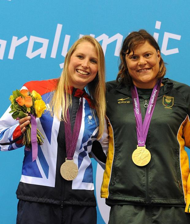 This Is Wiltshire: SILVER LINING: Steph Millward, left, and Natalie Du Toit
