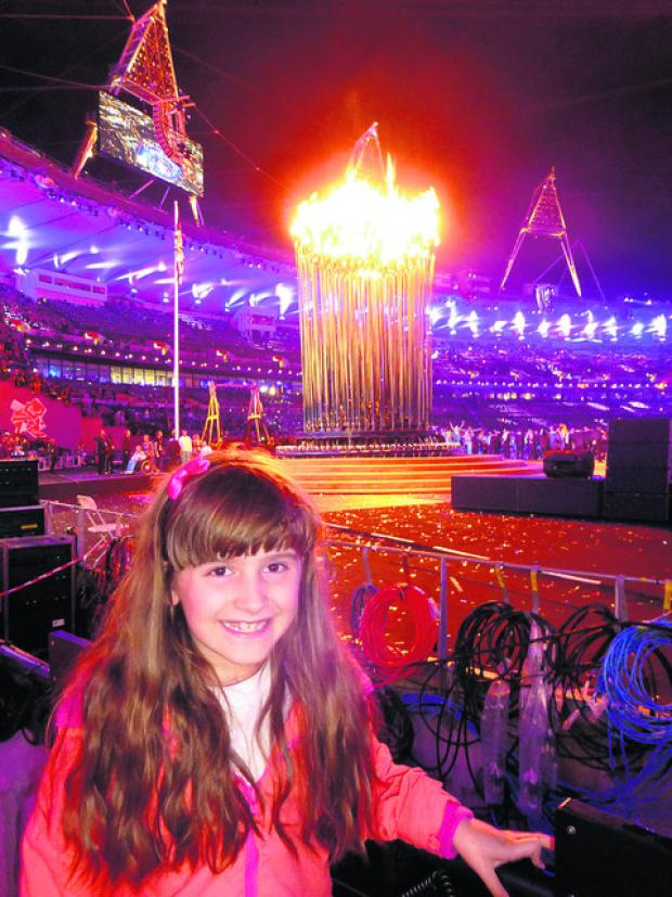 This Is Wiltshire: Izzie King, one of London 2012 Children's Promise children, at the Paralympics Opening Ceremony