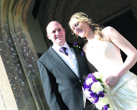 This Is Wiltshire: Stacey Gale and Christopher Jenkins follow in the bride's family footsteps by marrying at All Saints
