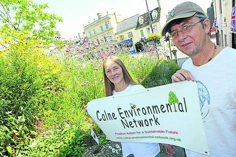This Is Wiltshire: GREEN DREAM: Peter Knight and Sue Wallace promote the idea of a community garden