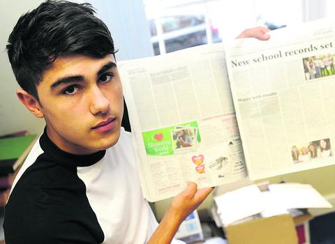 This Is Wiltshire: Alex Singh with a copy of the Gazette and Herald