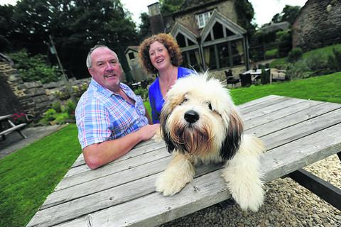 This Is Wiltshire: Mark Jenkinson with his wife Harriett and Jasmine the dog