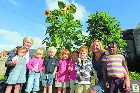 This Is Wiltshire: Laura Dunford, Delia Hatala with Bluebell, Eddie, George, Helena, Felicia, Grace and Maud