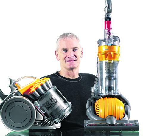Sir James Dyson with some of his firm's products