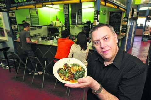 This Is Wiltshire: Manager Albert Frendo-Cumbo shows off one of Egg-e-licious's dishes