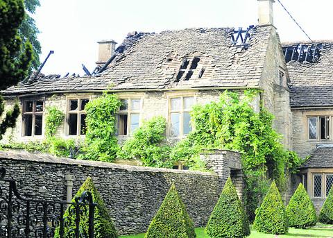 This Is Wiltshire: The fire ravaged Luckington Manor