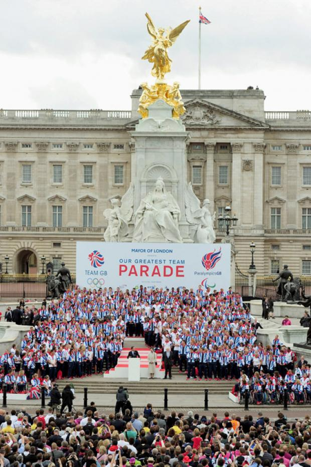 Thousands celebrated the achievements of GB athletes