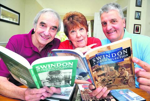This Is Wiltshire: From left, Bob Townsend, Diane Everett and Andy Binks, of the Swindon Society