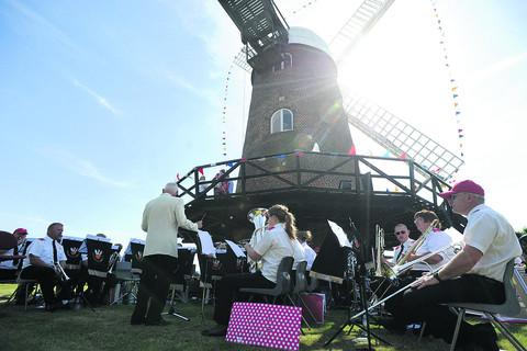 Phoenix Brass Band performs at the Wilton Windmill open day