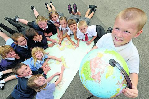 Pupils from Years 1-6 at Rowde School are celebrating their geography success