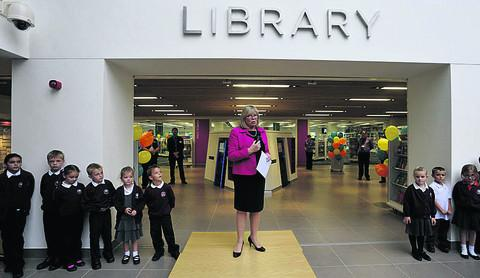 Wiltshire Council leader opens the new facility with the help of children from Newtown Primary School