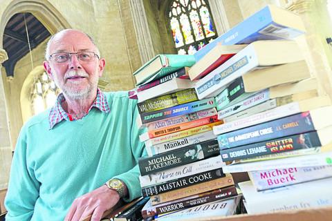 This Is Wiltshire: Tony Scorer, project manager for St Mary's Future Group, is organising a book sale on Saturday