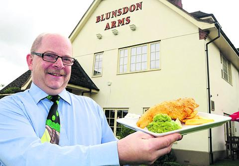 This Is Wiltshire: Mark Burton, the  manager of the Blunsdon Arms