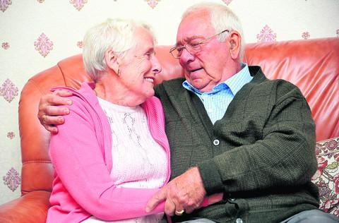 This Is Wiltshire: Ken and Mary Jones are celebrating their diamond wedding anniversary