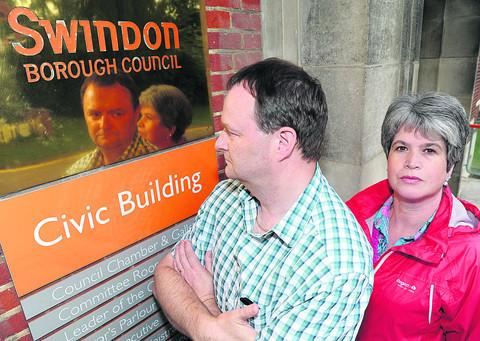 This Is Wiltshire: Paul and Steph Excell, of Oakhurst Residents' Association