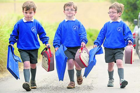 This Is Wiltshire: axter, Henry and Archie Gagen are off to Ramsbury Primary School
