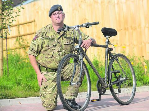 This Is Wiltshire: Flight medic David Gingell, from Calne, will be cycling in aid of the RAF Benevolent Fund