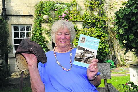 This Is Wiltshire: Author Nancy Wilson with her book outside Priory Steps