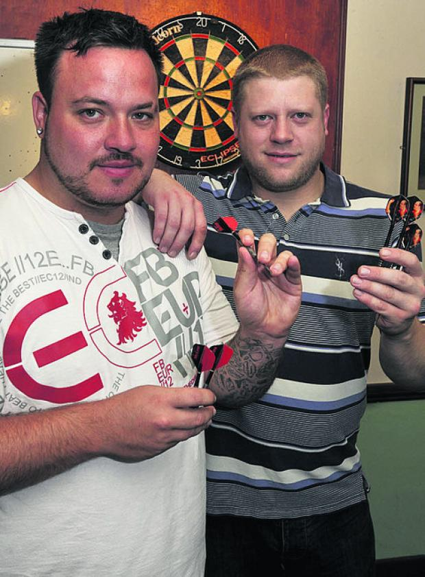 This Is Wiltshire: Ben Deadman (far left) with Ollie Thomas of the John Bull pub
