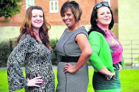 This Is Wiltshire: From left, Ressa Goring, Olive Hartley and Lisa Whiting