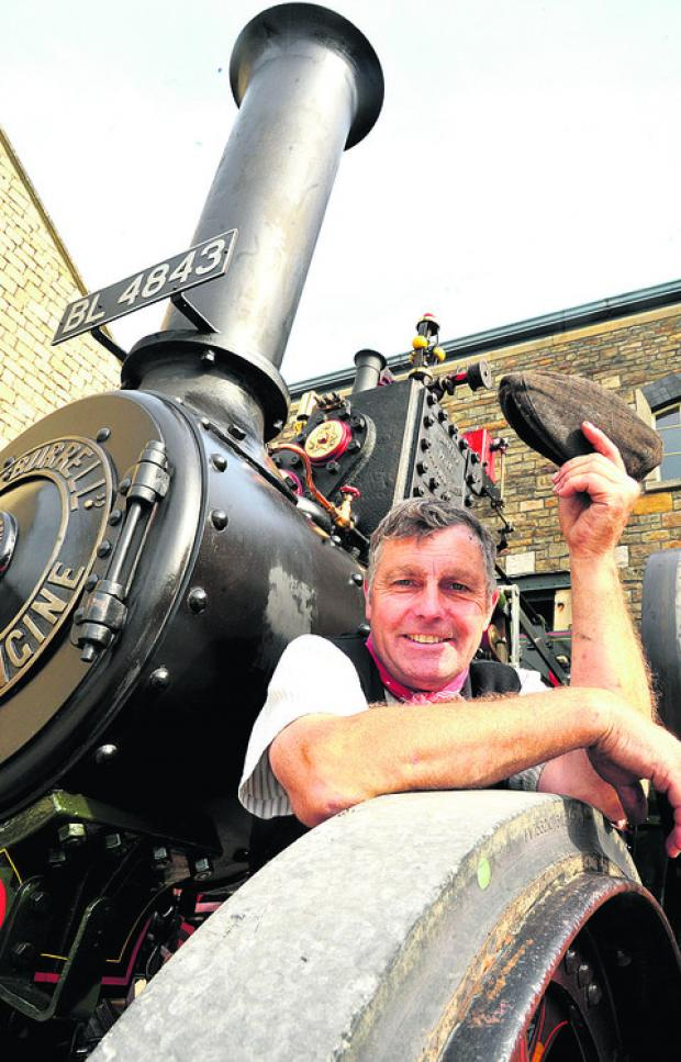 This Is Wiltshire: Colin Hatch with one of the engines