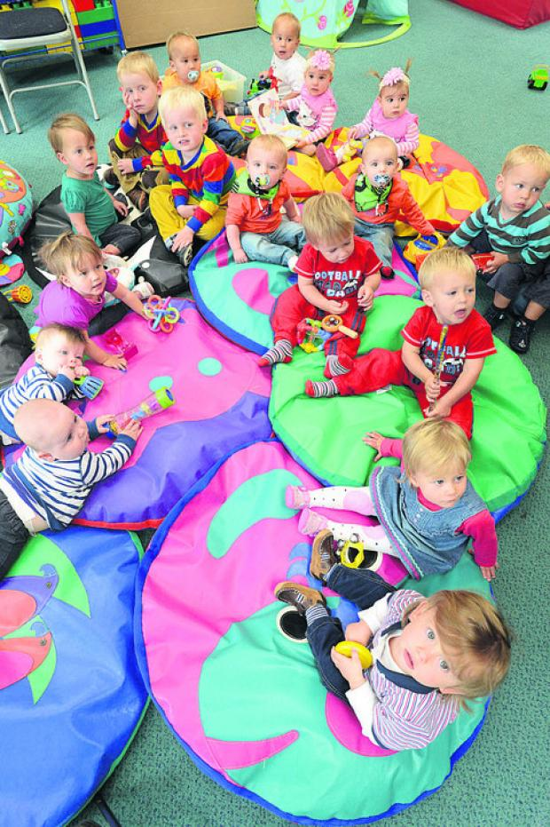 This Is Wiltshire: Sets of twins check out the new group at Gorse Hill Children's Centre