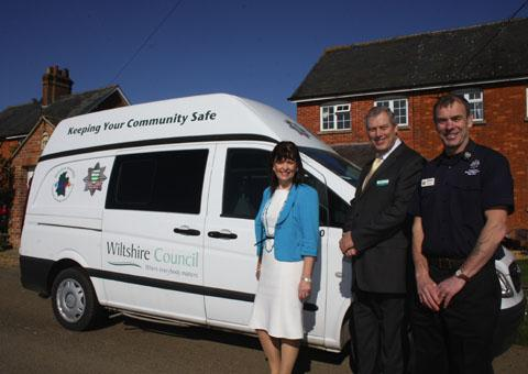 This Is Wiltshire: Maggie Rae, John Thomson and John Popowicz with one of the vans
