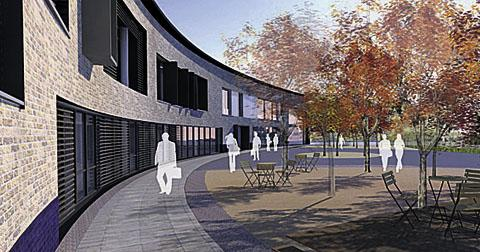 An artist's impression of how the new building will look