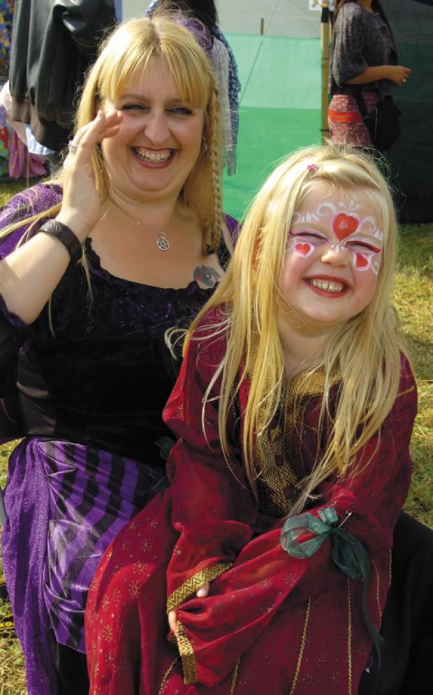 This Is Wiltshire: Fair-goers enjoy the medieval merriment