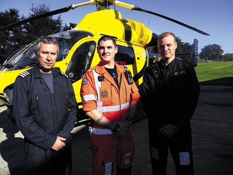 This Is Wiltshire: Captain George Lawrence, Ross Culligan and PC Kev Reed dealt with the incident at Stiles'