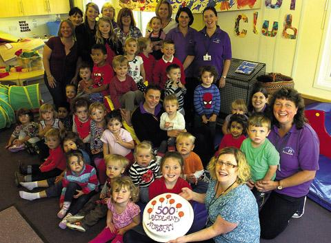 Staff and families mark Redland Nursery's milestone of looking after 500 children since 2004                                                           (39897)