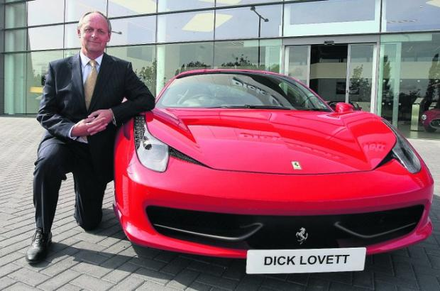 supercar Opening of the Dick Lovett Ferrari showroom at the Copse in Swindon. Pictured is the chairman of the company, Peter Lovett.Picture Stuart Harrison