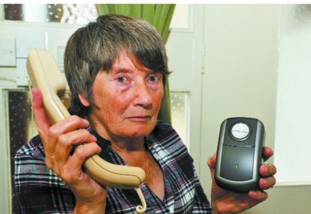 This Is Wiltshire: Judy Farr of Trowbridge was the victim of a phone scam  Photo: Glenn Phillips (31995)
