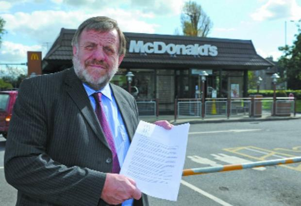 This Is Wiltshire: Concerned Cllr Graham Payne says he has had many fears about the effects of McDonald's opening 24 hours a day