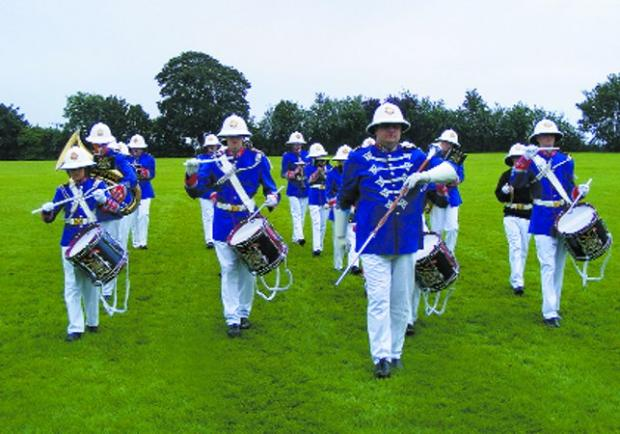 The Wiltshire Youth Marching Band did a beat retreat at their annual  awards Photos: Mr N Partridge