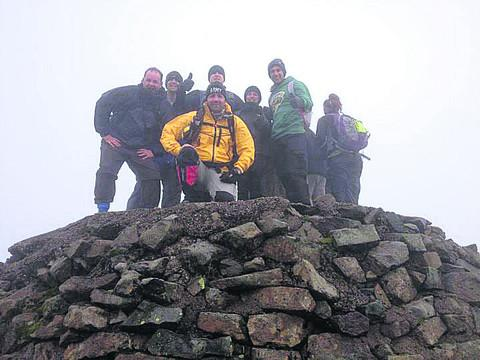 This Is Wiltshire: Mike Buss and the team during their Three Peaks Challenge