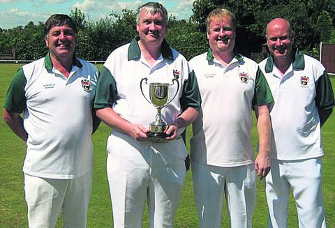 This Is Wiltshire: Holt, pictured (l-r) are, Malcolm Clift, Graham Archard, Malcolm Barker, Dave Stevens