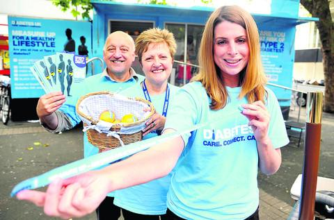 This Is Wiltshire: The Diabetes UK Healthy Lifestyle Roadshow held in July