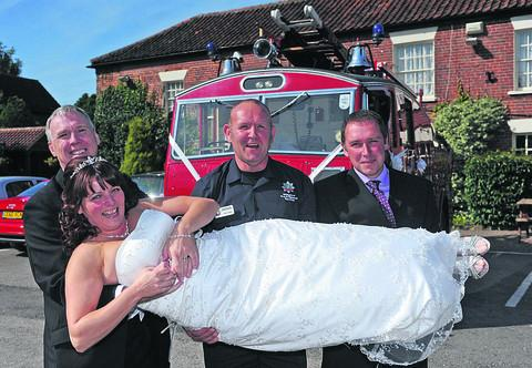 This Is Wiltshire: Bride Alvina gets a fir