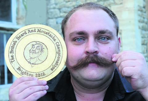 This Is Wiltshire: Chris Wall was named British Natural Growth Moustache Champion