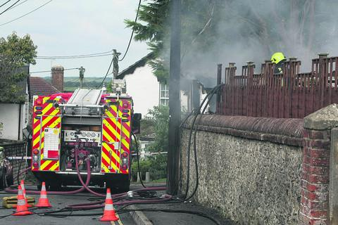 This Is Wiltshire: Fire brings down power cables