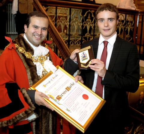 This Is Wiltshire: Steven Burke becomes a freeman of Pendle