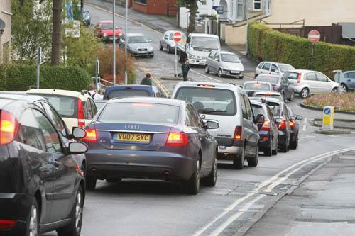 The traffic chaos caused by the Devizes Road closure this week