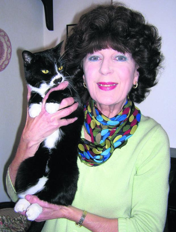 This Is Wiltshire: Janice Webb with roving cat Molly