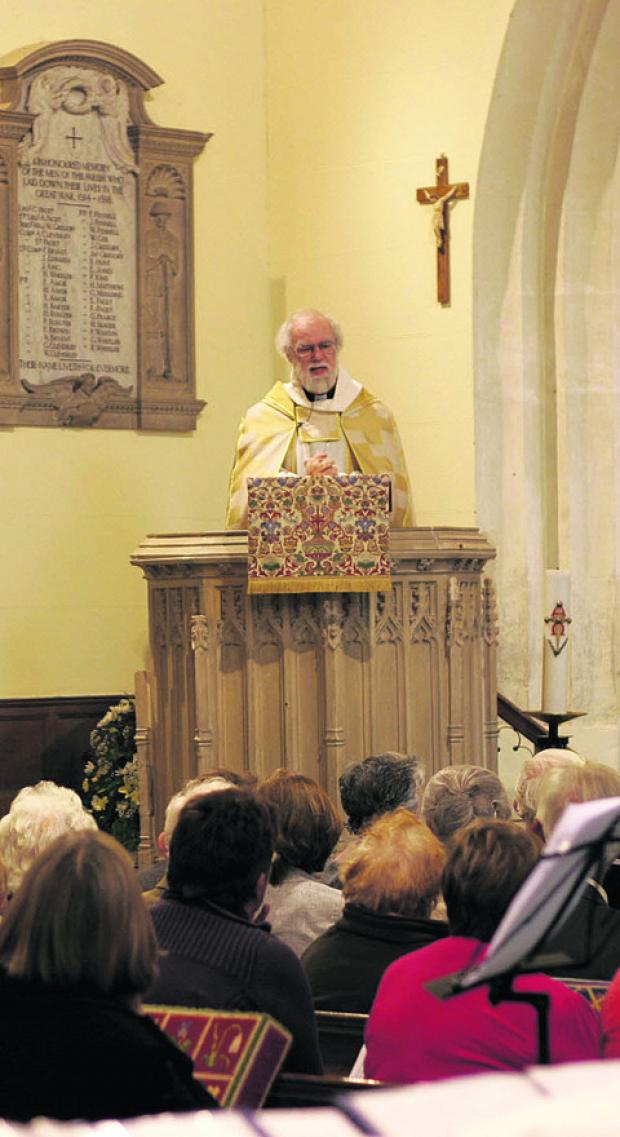 This Is Wiltshire: The Archbishop of Canterbury preaches at Bromham